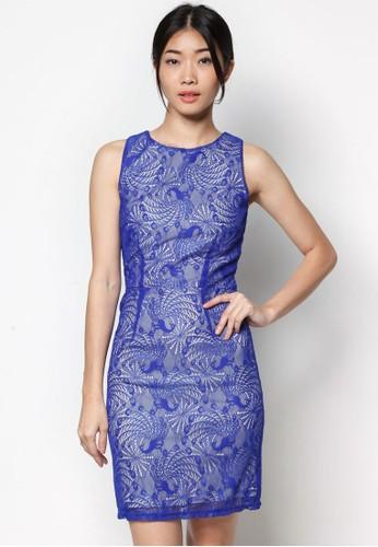 蕾絲貼身洋裝, 服飾esprit服飾, 洋裝