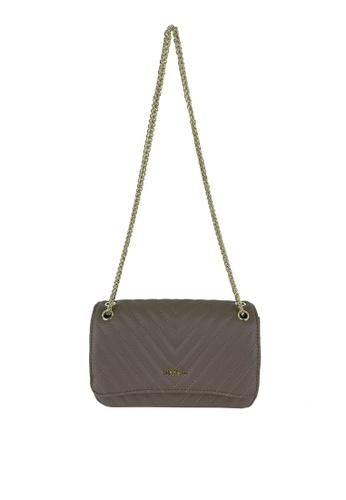 Mel&Co grey Faux Leather Sling Bag F4773AC892E884GS_1