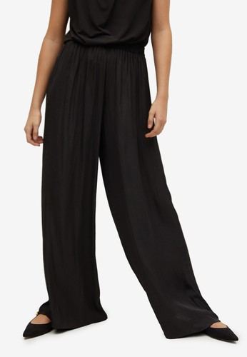 Mango black Flowy Palazzo Trousers 2E0A7AAE7C1250GS_1