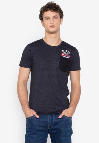 PETROL grey Basic Pocket T-Shirt 15F5DAAE09522DGS_1