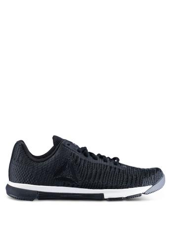 Reebok 黑色 and 灰色 Speed TR Flexweave 訓練鞋 60A15SHCADBF93GS_1