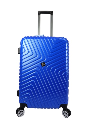 Poly-Pac blue GiorX GXA2070 20inch Ultra Strength Anti Scratch Polycarbonate Expendable Hard Case Luggage 0968BAC862DE80GS_1