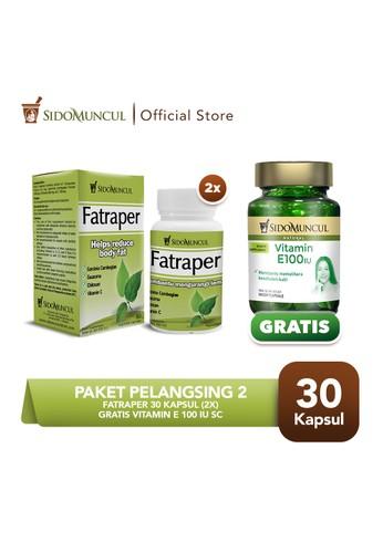 Sido Muncul green Paket Pelangsing 2 -  Fatraper 30'k (2 btl) FREE Vitamin E 100 IU SC D1BADES0013B68GS_1