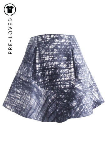 Carven blue Pre-Loved carven Wool Skirt 45D6FAAA2673AEGS_1