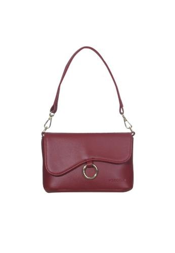 Verchini red Verchini Asymmetrical Shoulder Bag 87F0AACE2EDA2AGS_1