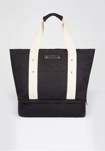 Life8 black Canvas Tote Bag-06340-Black LI283AC86LBPSG_1