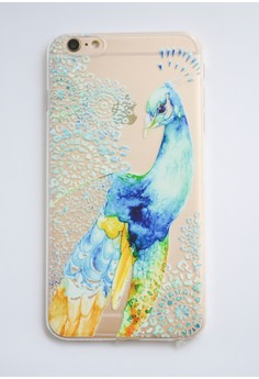 Peacock Transparent Soft Case for iPhone 6 plus/ 6s plus