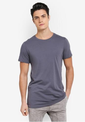 Cotton On 藍色 簡約素色長版T恤 8979EAAB899E5BGS_1