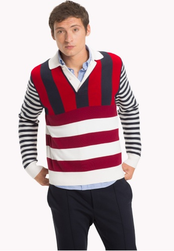 5f479ea5 Buy Tommy Hilfiger STRIPE KNITTED RELAXED FIT POL Online on ZALORA Singapore