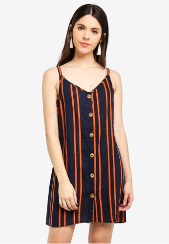 Cotton On blue and multi Woven Margot Slip Dress 23CE7AAE116999GS_1