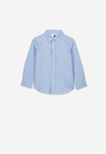Cotton On Kids blue Prep Long Sleeve Shirt 3E996KAD22CA4CGS_1