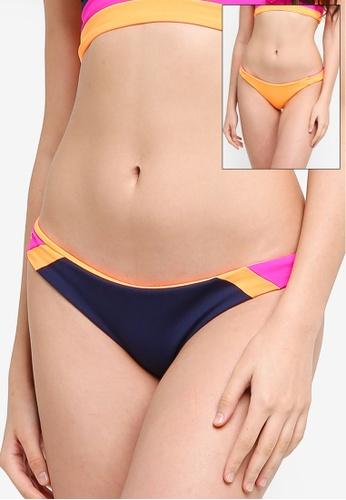 Maaji pink and multi Reversible Caribe Flirt Signatura Cut Bikini Bottom 1C3D3US9F9D36FGS_1