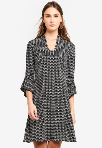 Max Studio multi Knit Ruffle Sleeve Dress 3BD1FAAA4B42C0GS_1