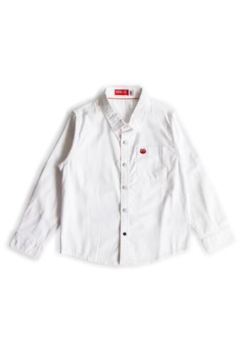 Osella Kids white Osella Baju Anak Laki Laki Kemeja Lengan Panjang Polos White 64832KAD1610AAGS_1