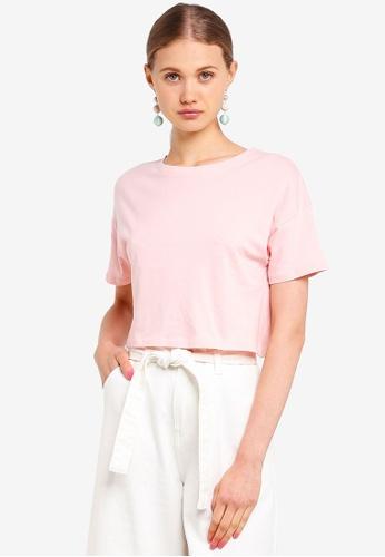 Supre pink Loose Crop Tee 3A1ADAA36F4680GS_1
