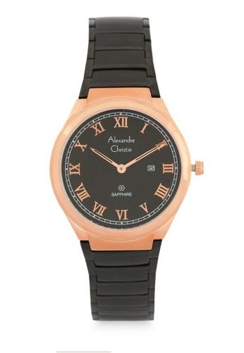 Alexandre Christie black Alexandre Christie Jam Tangan Wanita - Black Rosegold - Stainless Steel - 8538 LDBBRBA  57A8EAC9449E8FGS_1