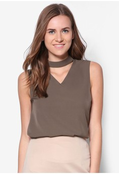 Collection High Neck Cut Out-Top