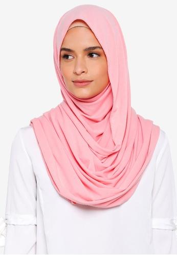 Lubna pink Basic Jersey Shawl 7B7E1AACAE88D4GS_1