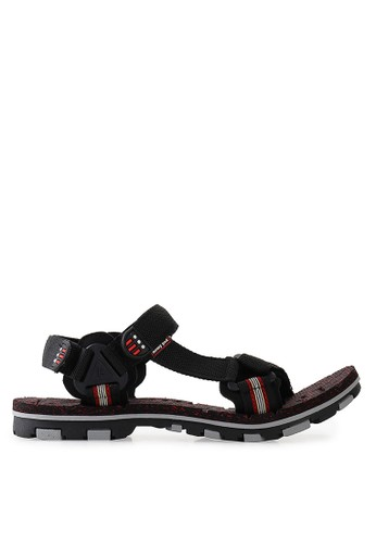 Homyped black High Way 01 Men Sandal Gunung HO842SH60KLJID_1