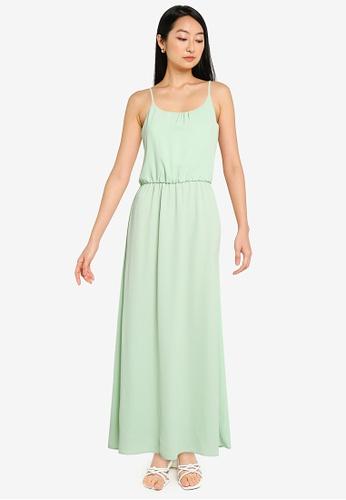 ONLY green Nova Lux Strap Maxi Dress 9DFBBAAD478240GS_1