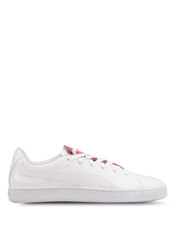 PUMA white Basket Crush Women's Sneakers A7D6FSH24DF071GS_1