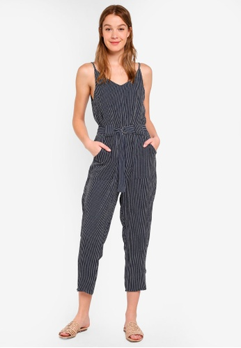 Cotton On navy Woven Strappy Jackie Jumpsuit 65967AAF36B110GS_1