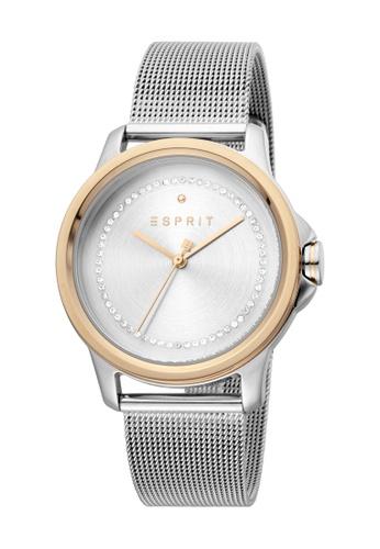 Esprit silver ESPRIT [Bout] 36mm Stainless Steel Mesh Band Women Watch [ES1L147M0115] D61DEACD0CFA49GS_1