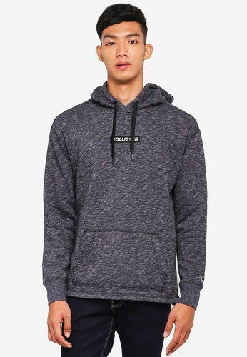 Hollister black Brand Graphic Hoodie 41344AAB10118FGS_1