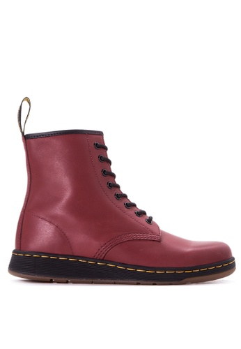 Dr Martens red Men's Newton 8 Eye Boots DR086SH76LCPPH_1