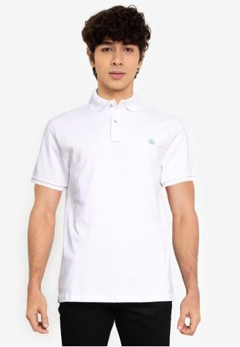 Springfield white Essential Slim Polo Shirt CBFC6AA2C116C6GS_1