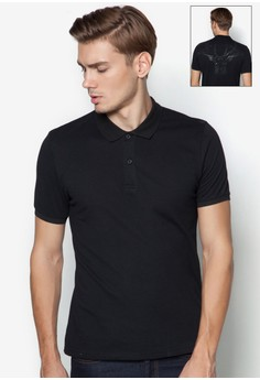 XM-Polo With Back Embossed Reindeer Print