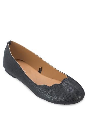 Sammy zalora 手錶 評價扇貝鞋口平底鞋, 女鞋, 鞋