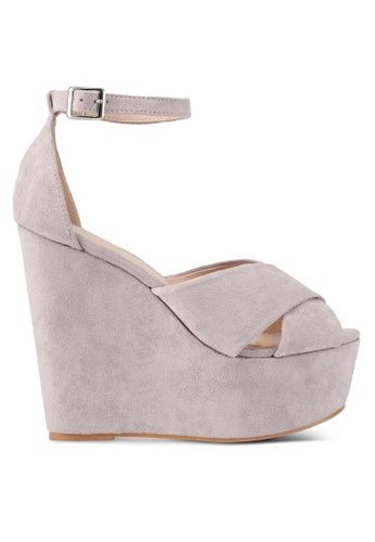 Something Borrowed grey Ankle Strap Wedges 71481SH9821E73GS_1