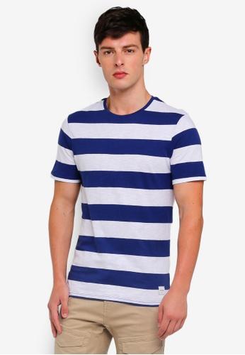 Only & Sons 藍色 休閒條紋T恤 5D801AAF57C662GS_1