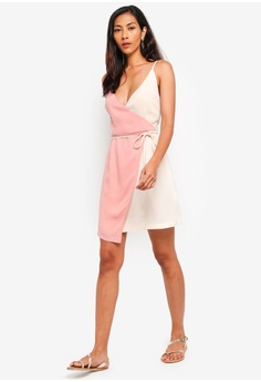 f5f9cf038bd5 45% OFF ZALORA BASICS Basic Asymmetric Wrap Mini Dress RM 99.00 NOW RM  54.90 Sizes XS S M L XL