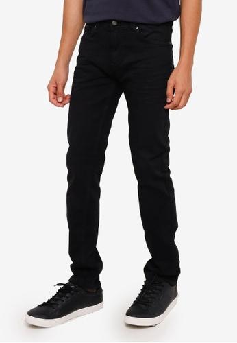Springfield black Wash Slim Fit Jeans 8EE70AACDB6D94GS_1