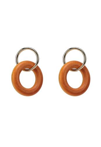 niko and ... brown Circled Earrings B3D2FACED442ECGS_1
