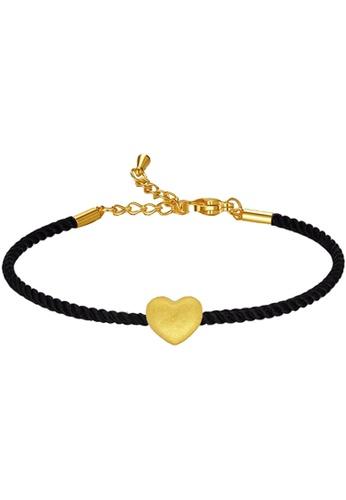 LITZ gold [SPECIAL] LITZ 999 (24K) Gold Love Charm With Bracelet 爱心手绳 EPC0893-B-B(0.12g+/-) 7556AACD9A0AEDGS_1