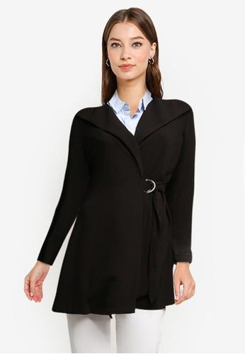 ZALORA WORK black Belted Coat 8A4E2AAE2BD331GS_1