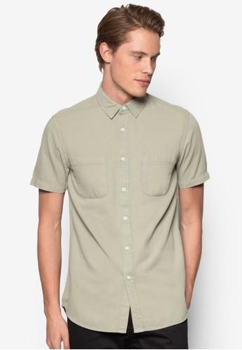 雙口袋斜紋短袖襯衫, 服飾尖沙咀 esprit, 服飾