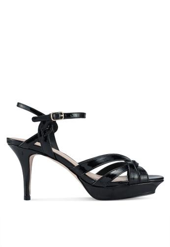 Miss KG 黑色 交叉繞帶高跟鞋 F3638SHF36E714GS_1