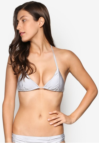 Piha grey Urban Ruche Sliding Tri Bikini Top PI734US35NYMMY_1