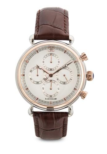 esprit 香港 outlet大日曆計時皮革手錶, 錶類, 飾品配件