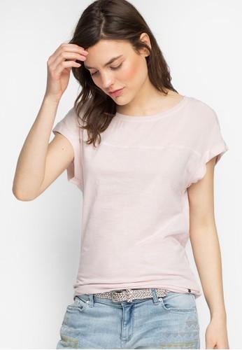 不對稱下擺圓領TEE, 服飾zalora鞋子評價, T恤