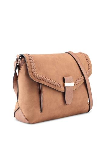 Buy Dorothy Perkins Tan Whipstitch Crossbody Bag Online   ZALORA Malaysia 3872f953bb