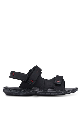 Bata black Velcro Double Strap Sandals BB986SHD10F6CEGS_1