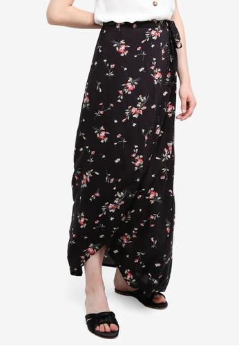 Something Borrowed black Maxi Wrap Skirt F1CB9AA20A3036GS_1