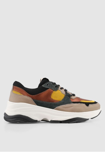 Selected Homme yellow and multi Gavin Trainers 2F2BBSH5E1F12DGS_1