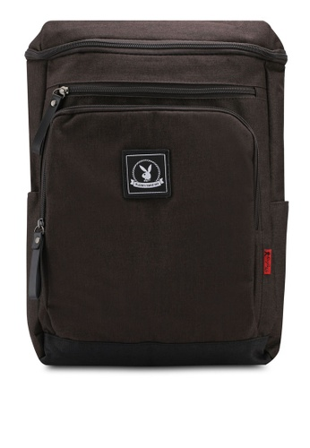 Playboy brown Playboy Backpack E284FAC46348AAGS_1