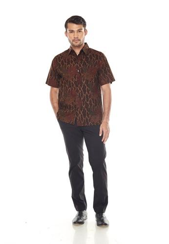 TUSCA brown Eusoff Premium Batik Shirt E3F34AAA453FD8GS_1